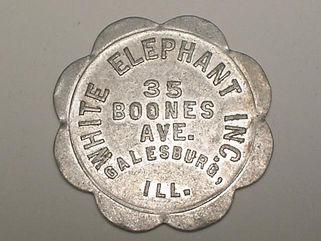 Bloomgren's White Elephant Parlor Inc. Token, 1904-1907